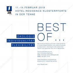 regros | Hausmesse 3B Marienfeld Hotel Klosterpforte 2019